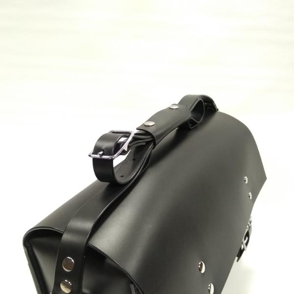 maletín compatible con bicicletas Brompton negro vista superior