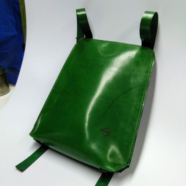 green backpack side