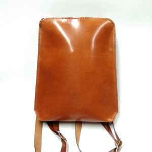 Brown backpack front view