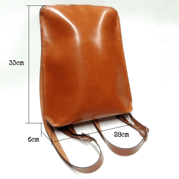 Brown backpack measurements