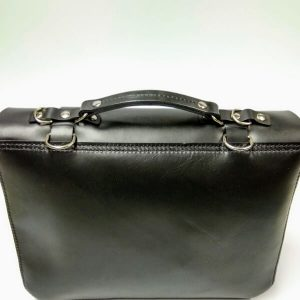 black satchel back