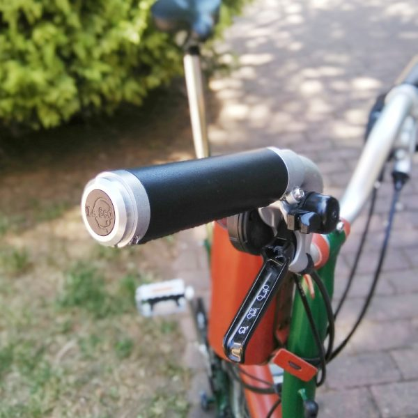 Puños bicicleta negro-aluminio