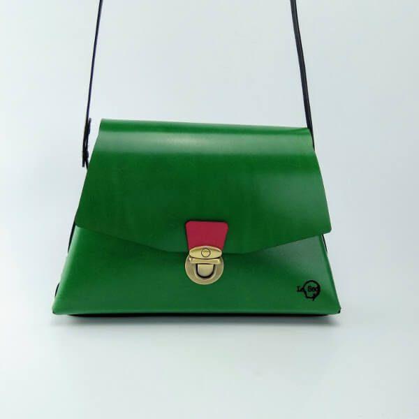 Bolso trapecio verde 4