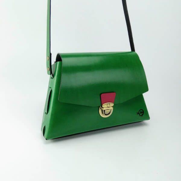 Bolso trapecio verde 1