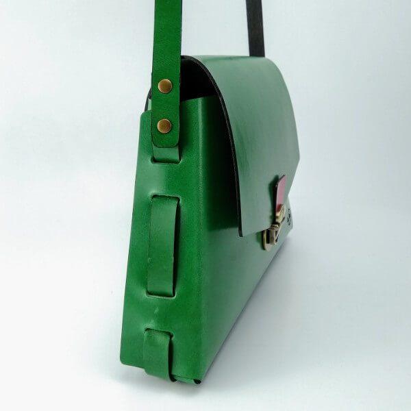 Bolso trapecio verde 2
