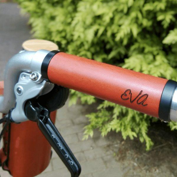 Puños de bicicleta de cuero personalizados