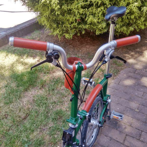Puños de cuero para bicicleta