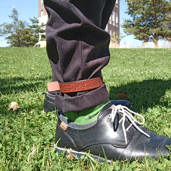 Leather trouser strap